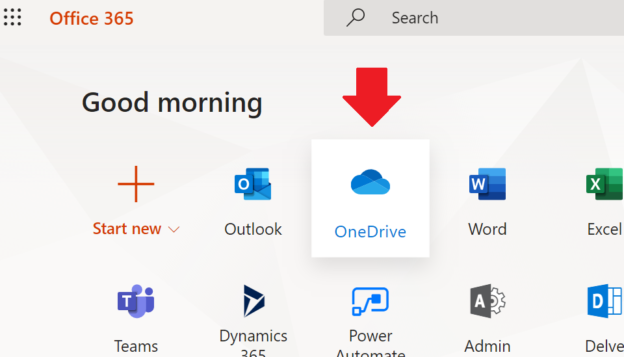 Office.com OneDrive icon